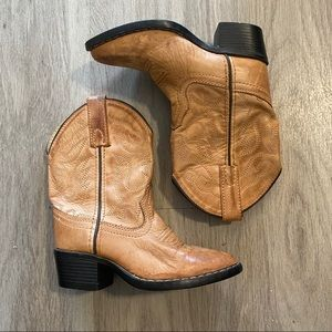 smokey, kid's brown pointed toe cowboy boots